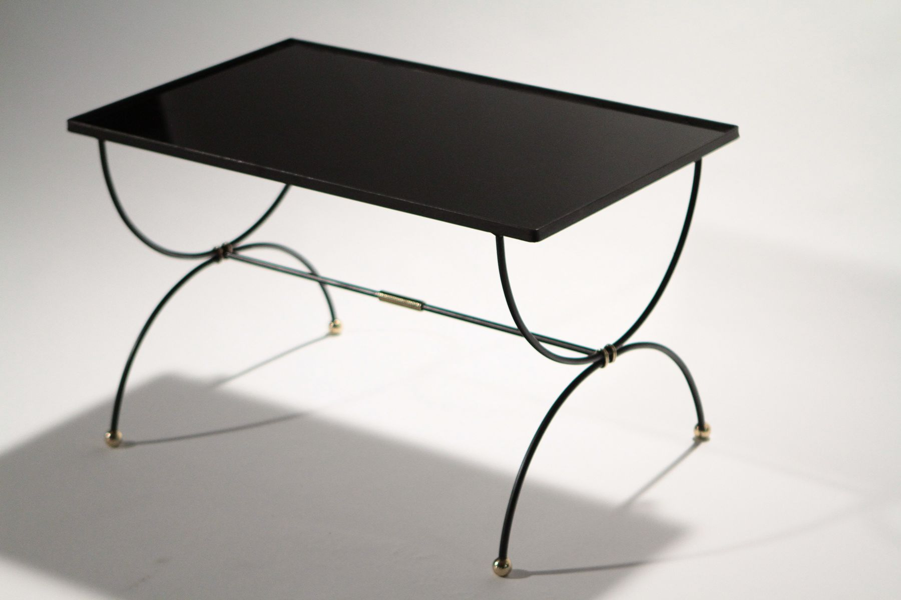 mid-century wrought iron coffee table, 1950s for sale at pamono