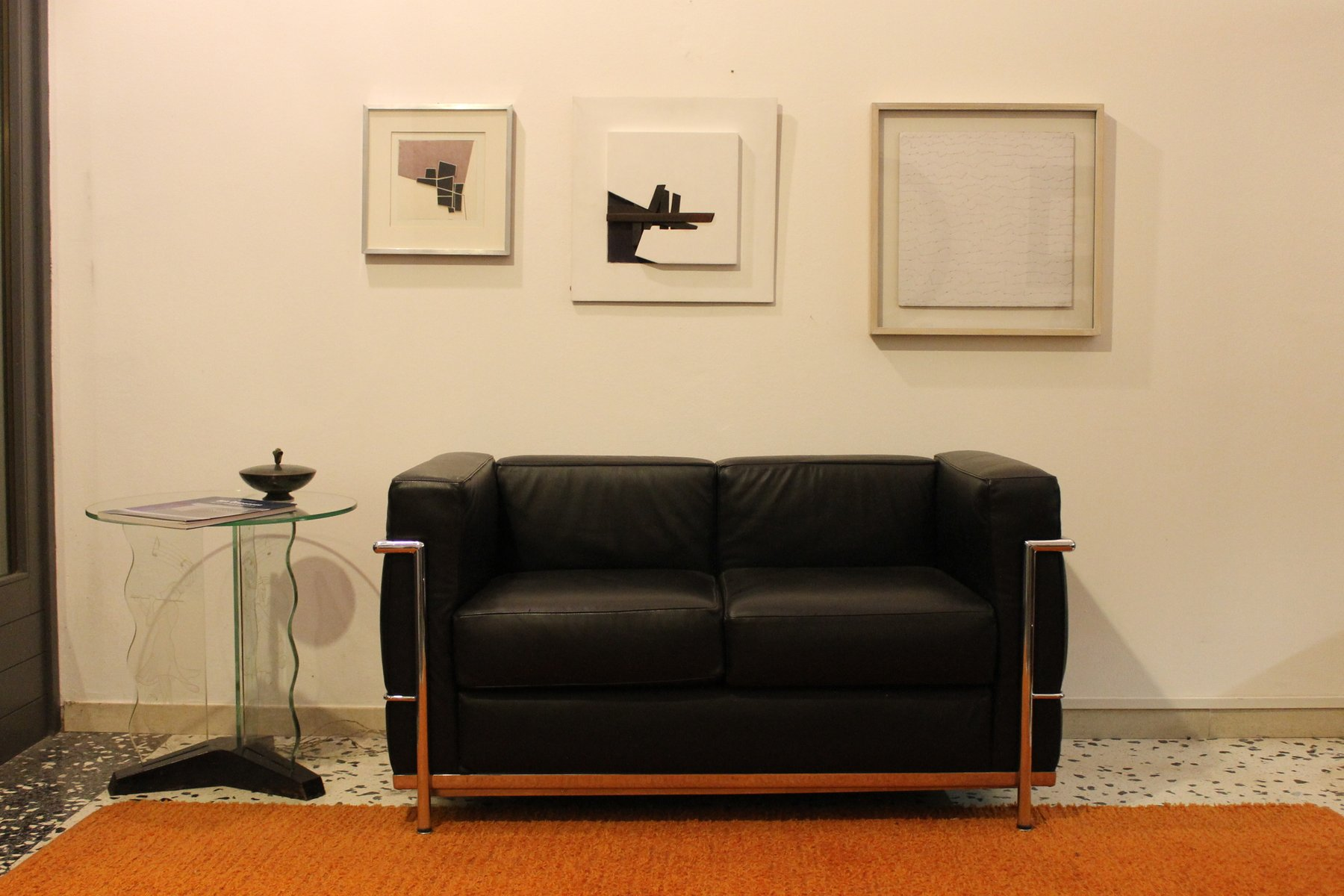 Lc2 sofa by le corbusier for alivar 1989 for sale at pamono - Canape lc2 le corbusier ...