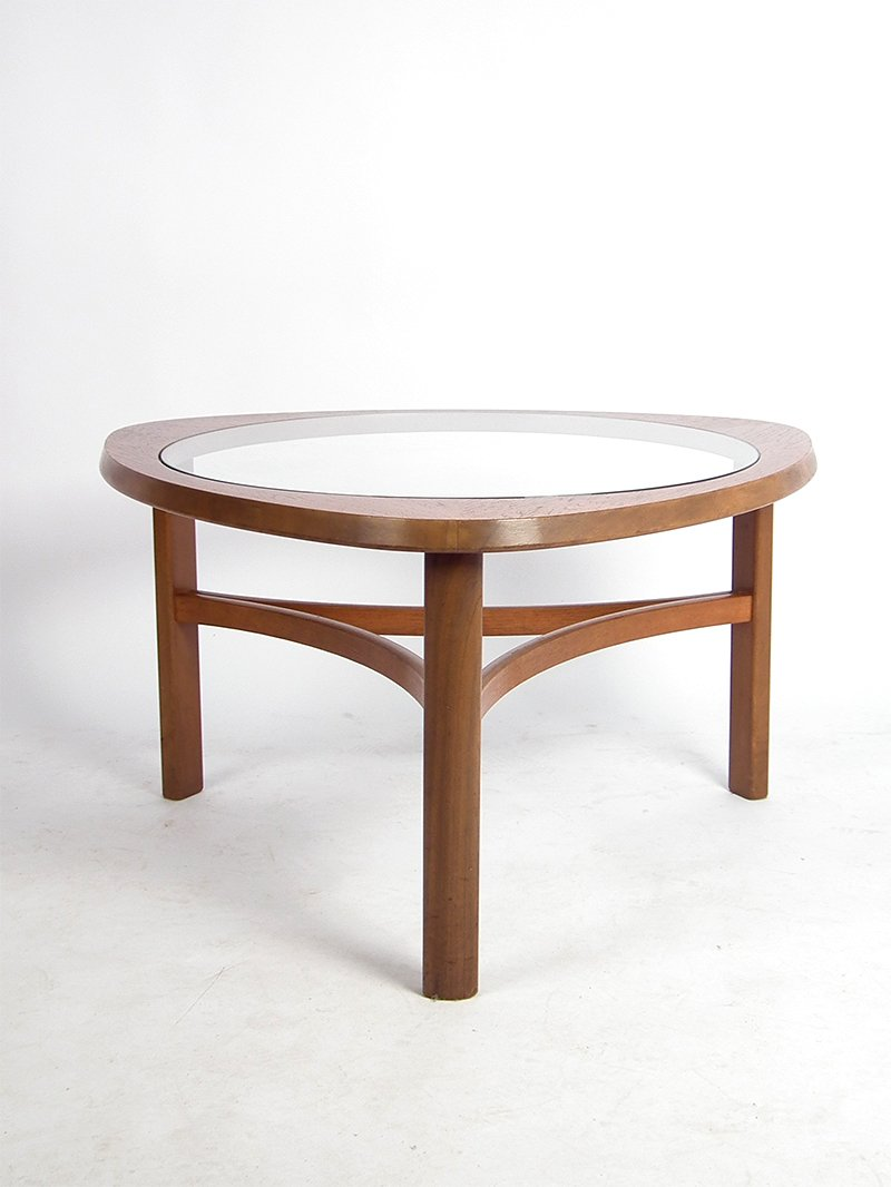 Mid Century Teak Glass Coffee Table For Sale At Pamono