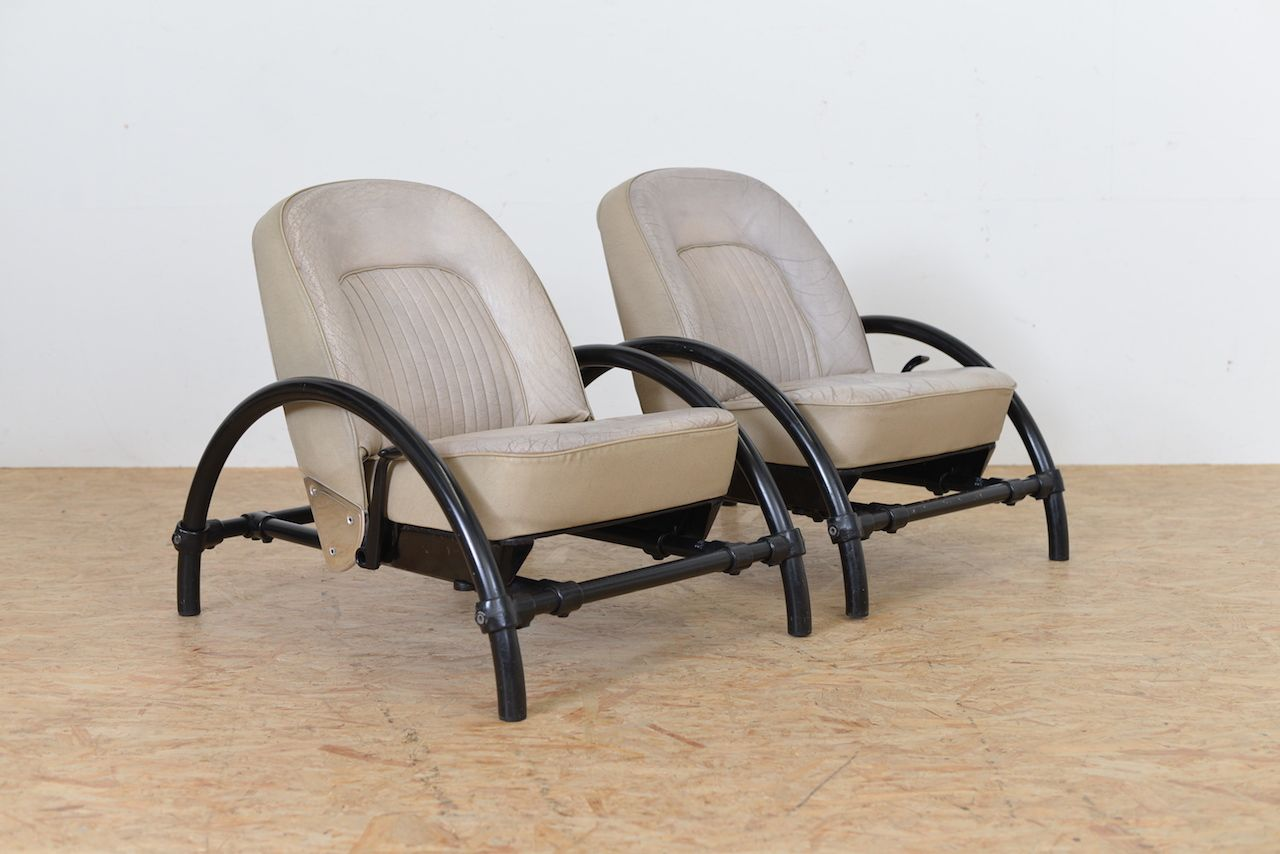 vintage rover chairs by ron arad for oneoff set of 2 for sale at pamono. Black Bedroom Furniture Sets. Home Design Ideas