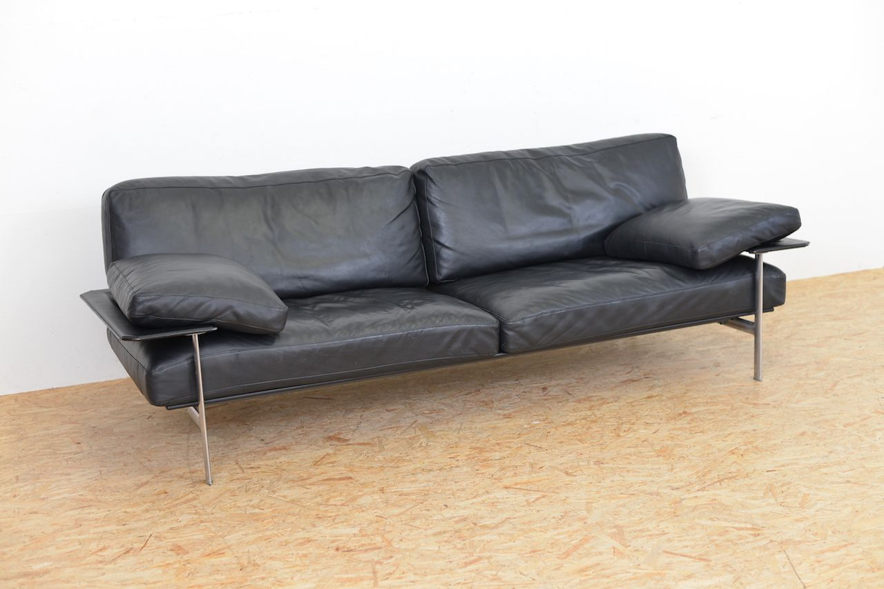 canap vintage diesis en cuir par antonio citterio paolo nava pour b b italia en vente sur pamono. Black Bedroom Furniture Sets. Home Design Ideas