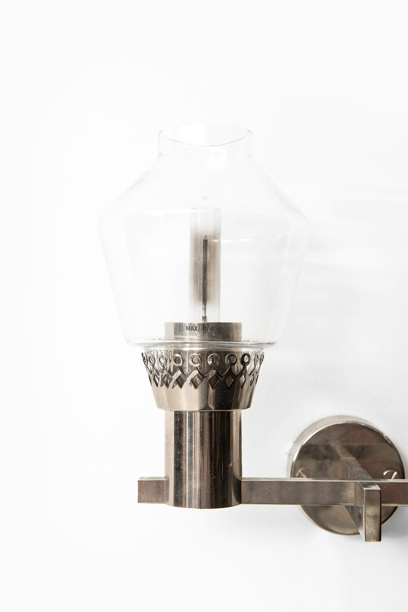 Aluminum Glass Wall : Aluminum and glass wall lamps from hans agne jakobsson