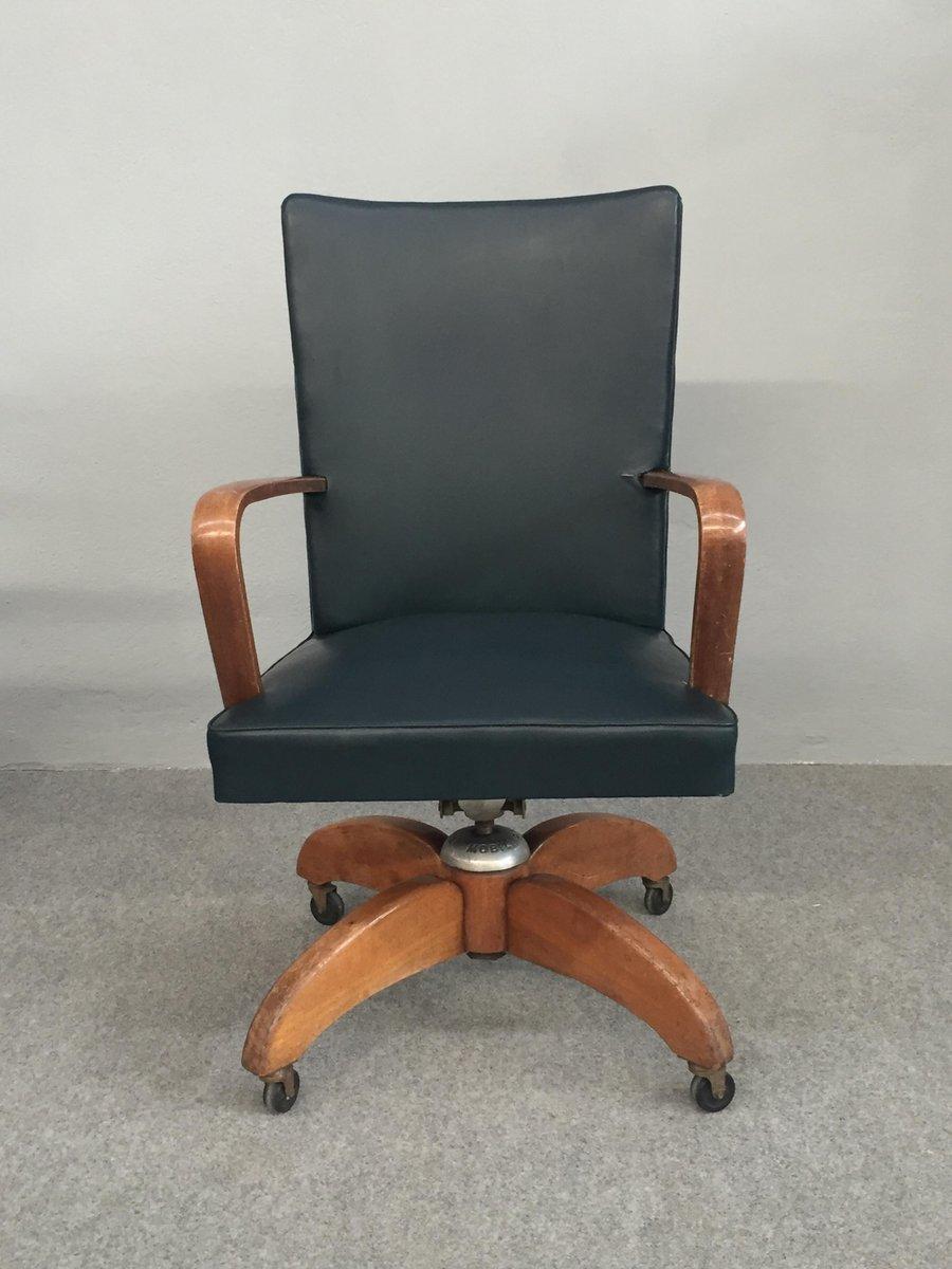 Sedia da scrivania girevole di mobili riva italia anni for Sedia design scrivania