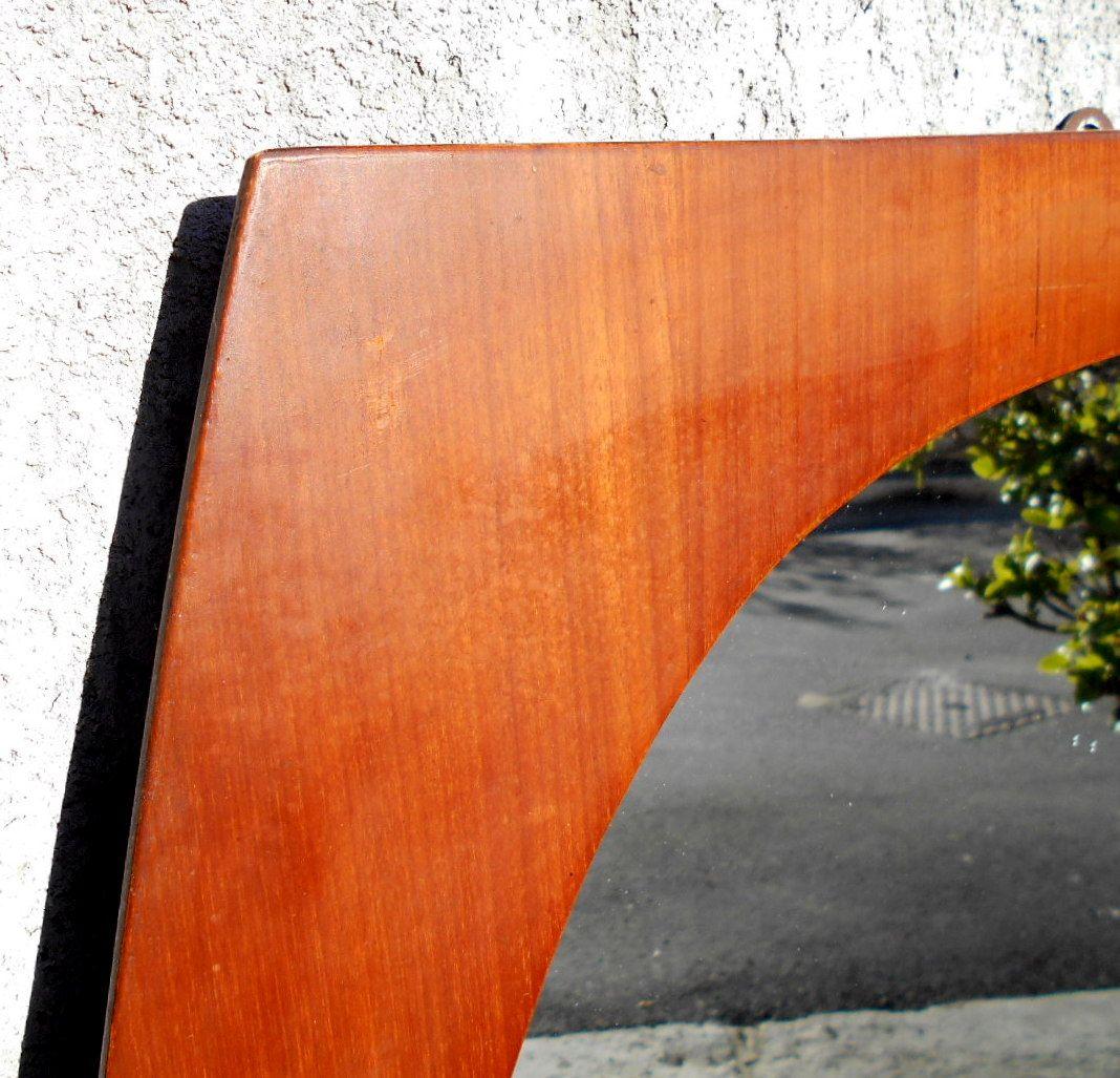 gro e spiegel mit rahmen aus teak 1960er 2er set bei pamono kaufen. Black Bedroom Furniture Sets. Home Design Ideas