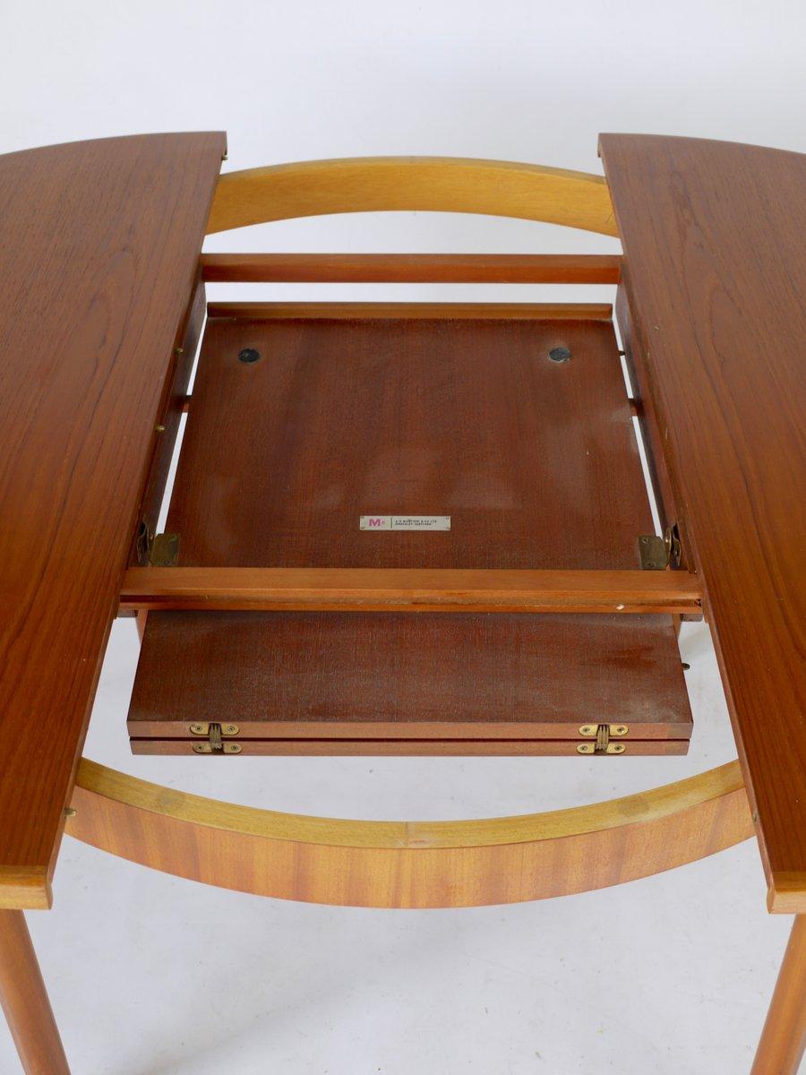 ausziehbarer runder teak esstisch von mcintosh 1970er bei pamono kaufen. Black Bedroom Furniture Sets. Home Design Ideas