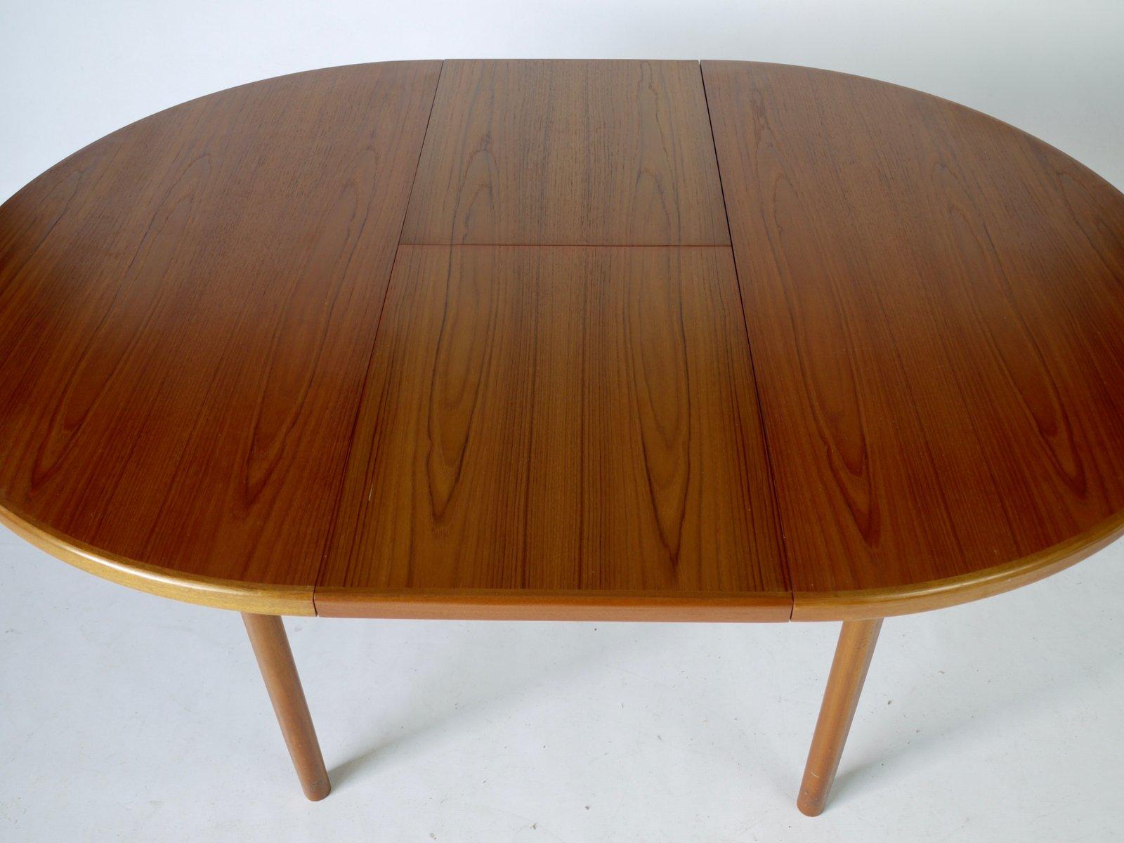 ausziehbarer runder teak esstisch von mcintosh 1970er bei. Black Bedroom Furniture Sets. Home Design Ideas