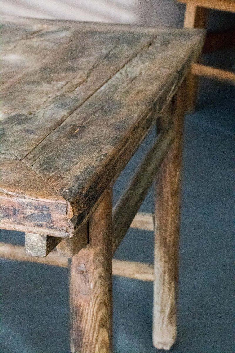 antiker chinesischer ulmenholz esstisch bei pamono kaufen. Black Bedroom Furniture Sets. Home Design Ideas