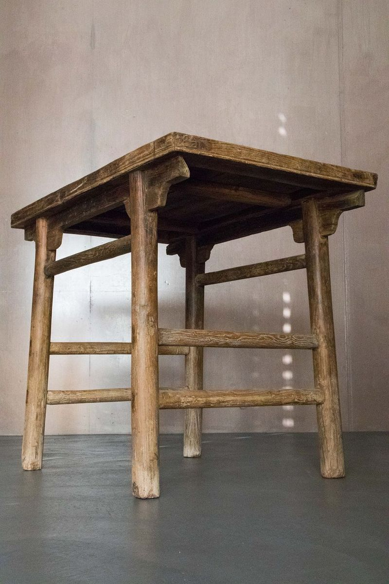 Antique chinese elm dining table for sale at pamono for Antique chinese tables for sale