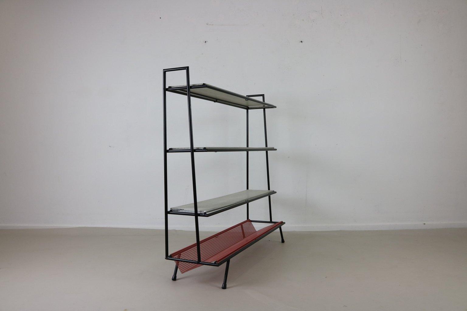 meuble de rangement en m tal perfor pays bas 1955 en vente sur pamono. Black Bedroom Furniture Sets. Home Design Ideas