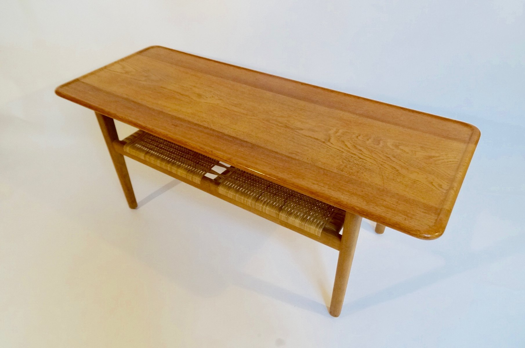 AT 10 Oak Coffee Table by Hans Wegner for Andreas Tuck 1959 for