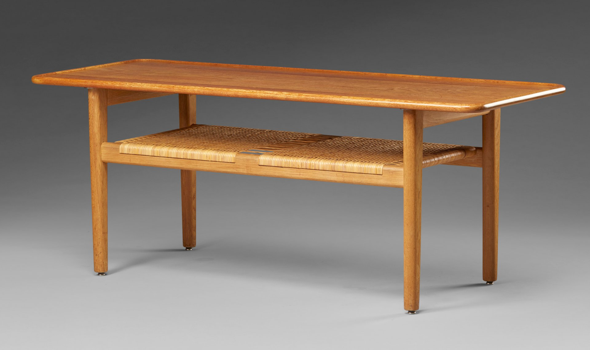 at10 oak coffee table by hans wegner for andreas tuck
