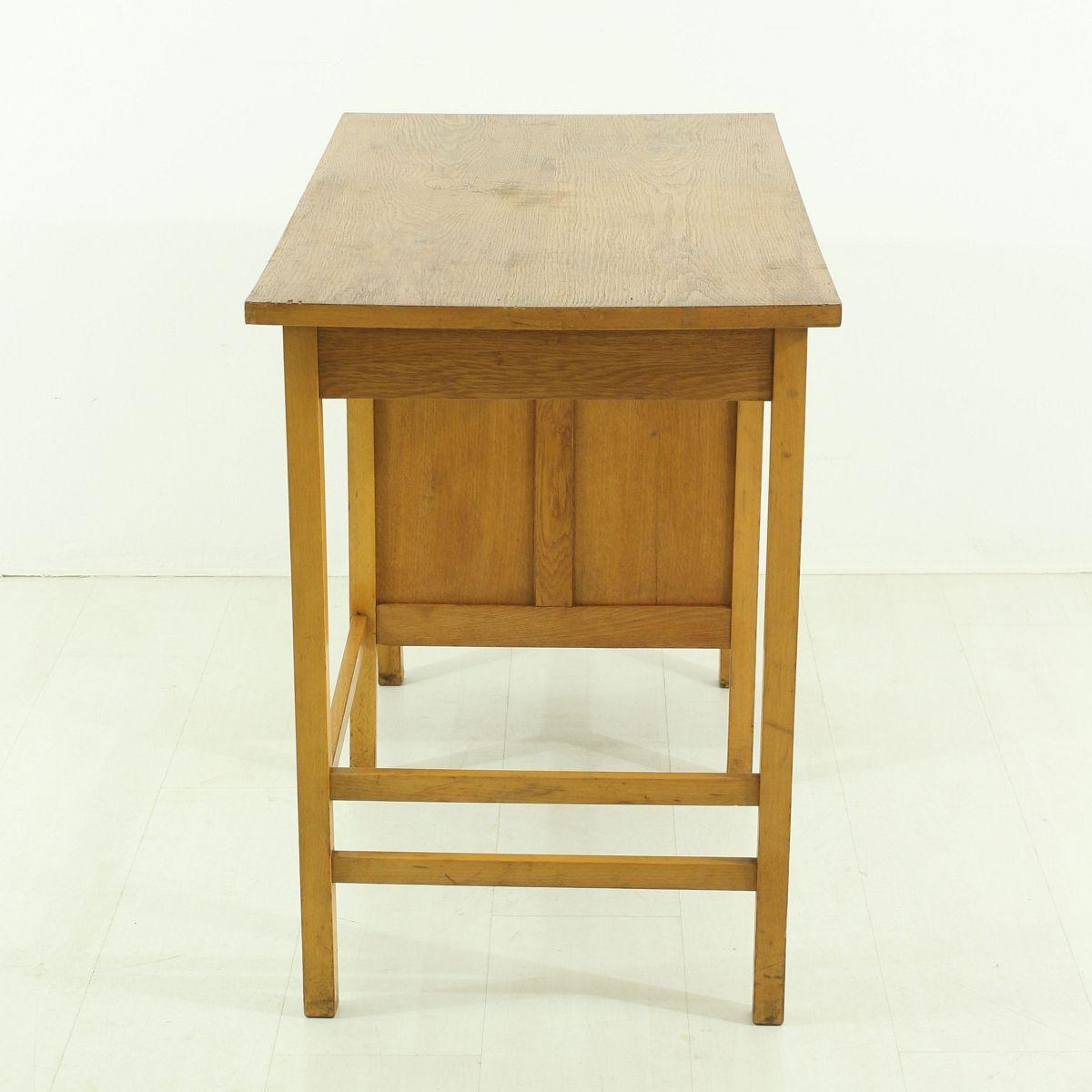 mid century schreibtisch mit rollt r bei pamono kaufen. Black Bedroom Furniture Sets. Home Design Ideas