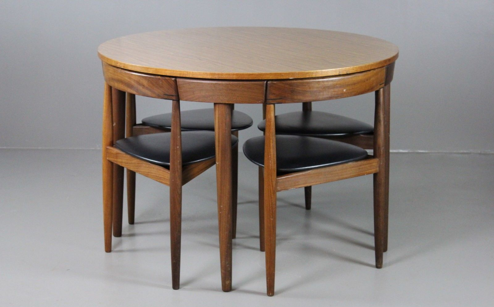 vintage danish dining table chairs by hans olsen for frem ro