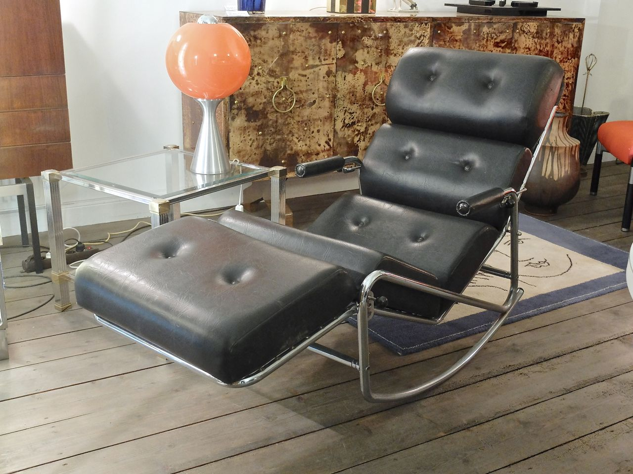 Vintage french lounge chair from lama furniture for sale for Vintage parisian lounge