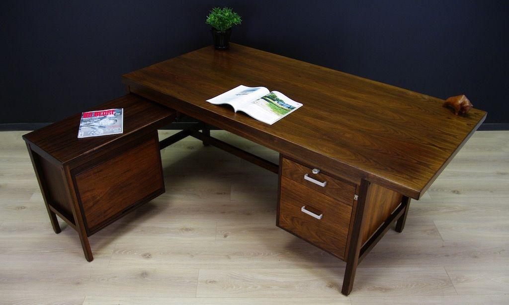 d nisches palisander schreibtisch set 1980er bei pamono kaufen. Black Bedroom Furniture Sets. Home Design Ideas