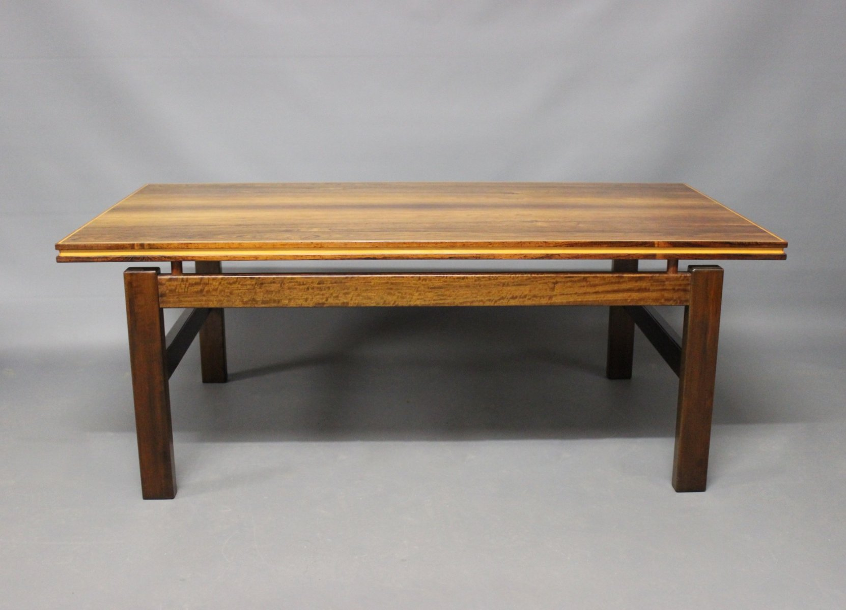 Danish Rosewood Coffee Table with Floating Top 1960s for sale at