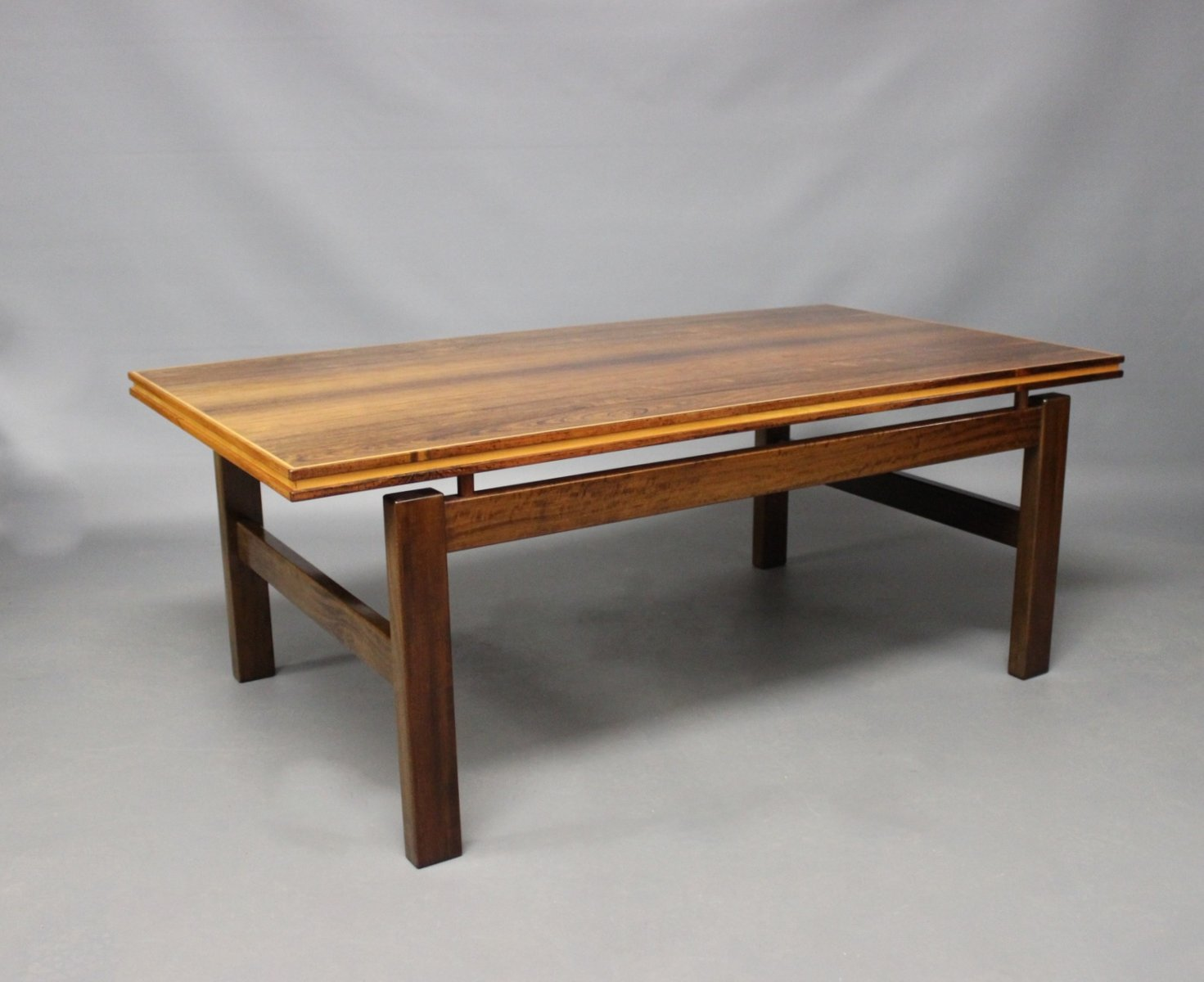 Beautiful Danish Rosewood Coffee Table With Floating Top, 1960s