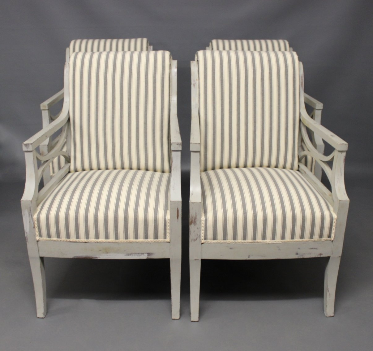 antique gustavian style armchairs set of 4 - Gustavian Style Furniture
