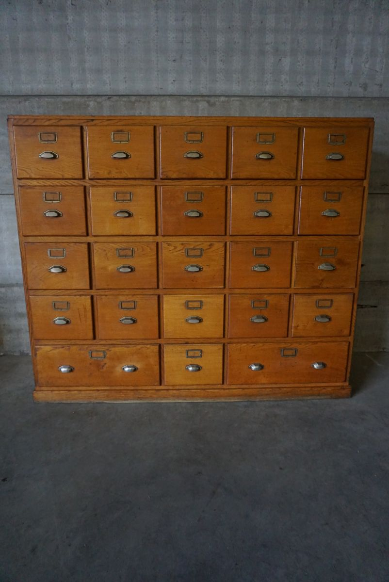 Vintage apothecary cabinet for sale - Vintage French Oak Apothecary Cabinet With Brass Hardware 1930s For Sale At Pamono