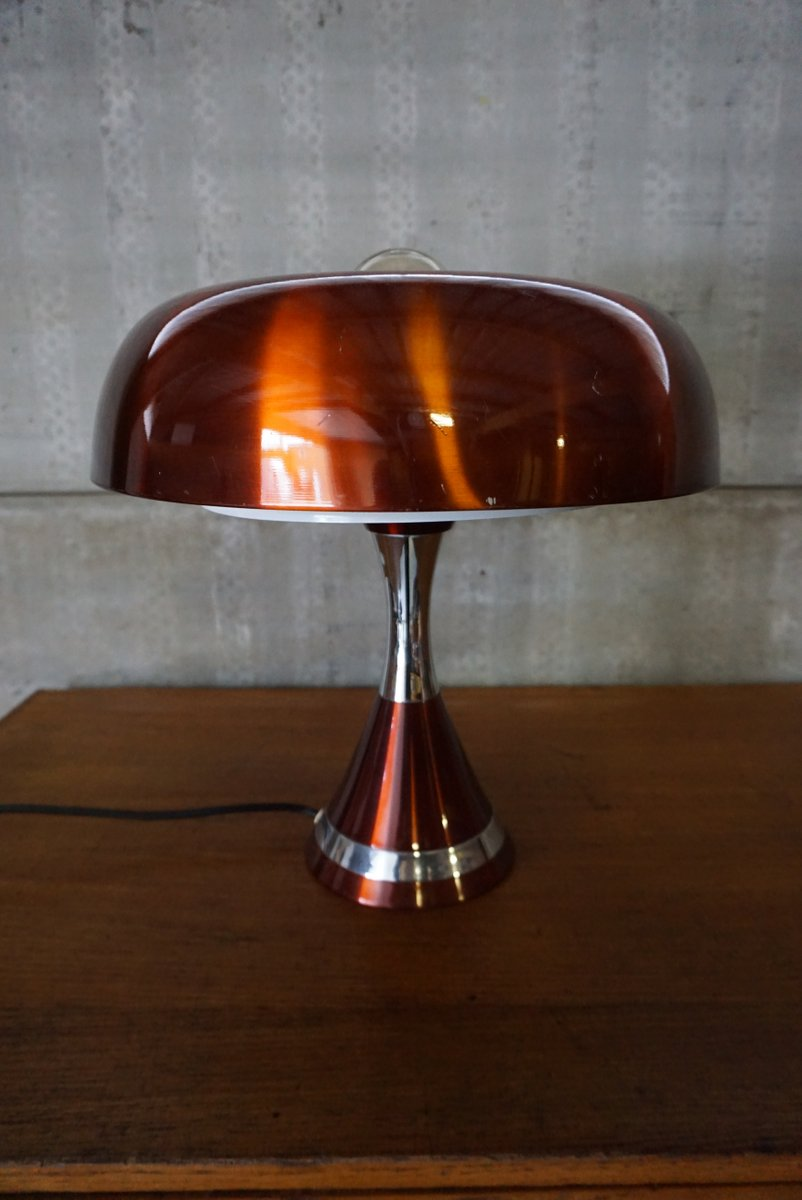 copper space age desk lamp 1970s for sale at pamono. Black Bedroom Furniture Sets. Home Design Ideas