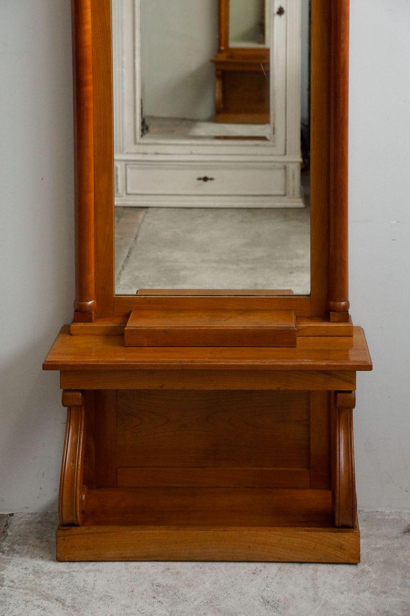 hoher schmaler kirschholz konsolentisch 1850er bei pamono kaufen. Black Bedroom Furniture Sets. Home Design Ideas