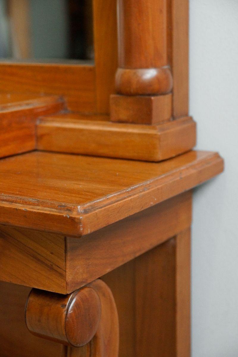 Hoher schmaler kirschholz konsolentisch 1850er bei pamono for Schmaler hoher beistelltisch