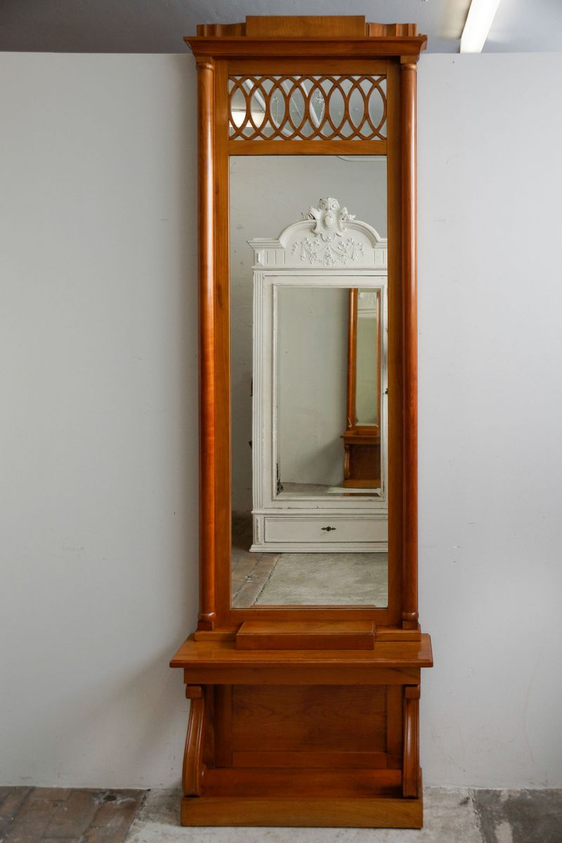 Tall narrow cherry console mirror 1850s for sale at pamono for Tall skinny mirror