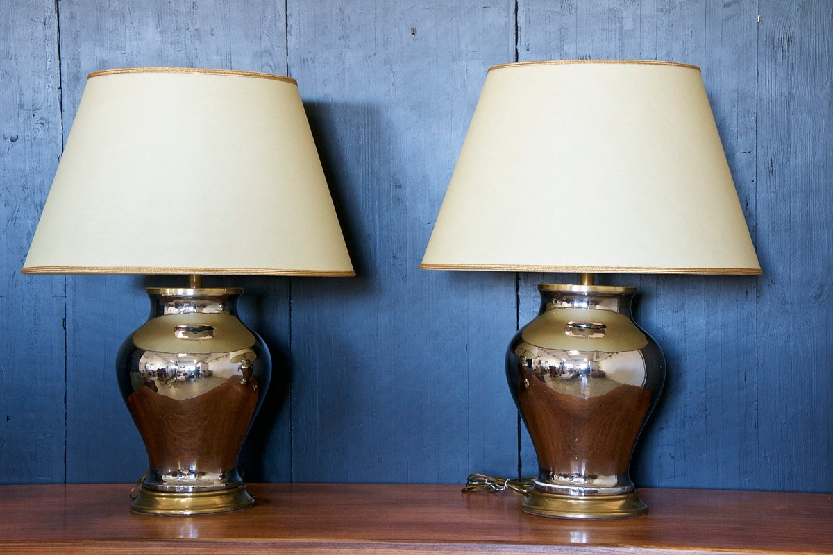 gro e italienische tischlampen 1960er 2er set bei pamono kaufen. Black Bedroom Furniture Sets. Home Design Ideas