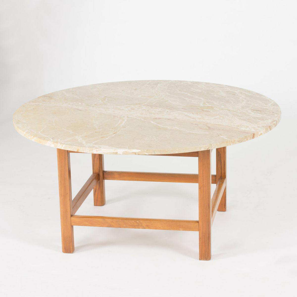 Mahogany and marble coffee table by josef frank 1950s for for Mahogany coffee table