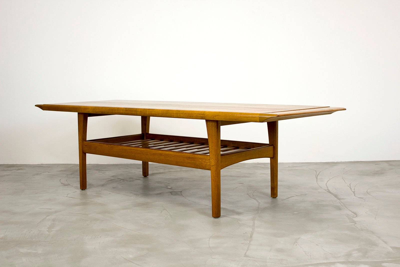 Danish Teak Coffee Table With Magazine Shelf 1960s For Sale At Pamono