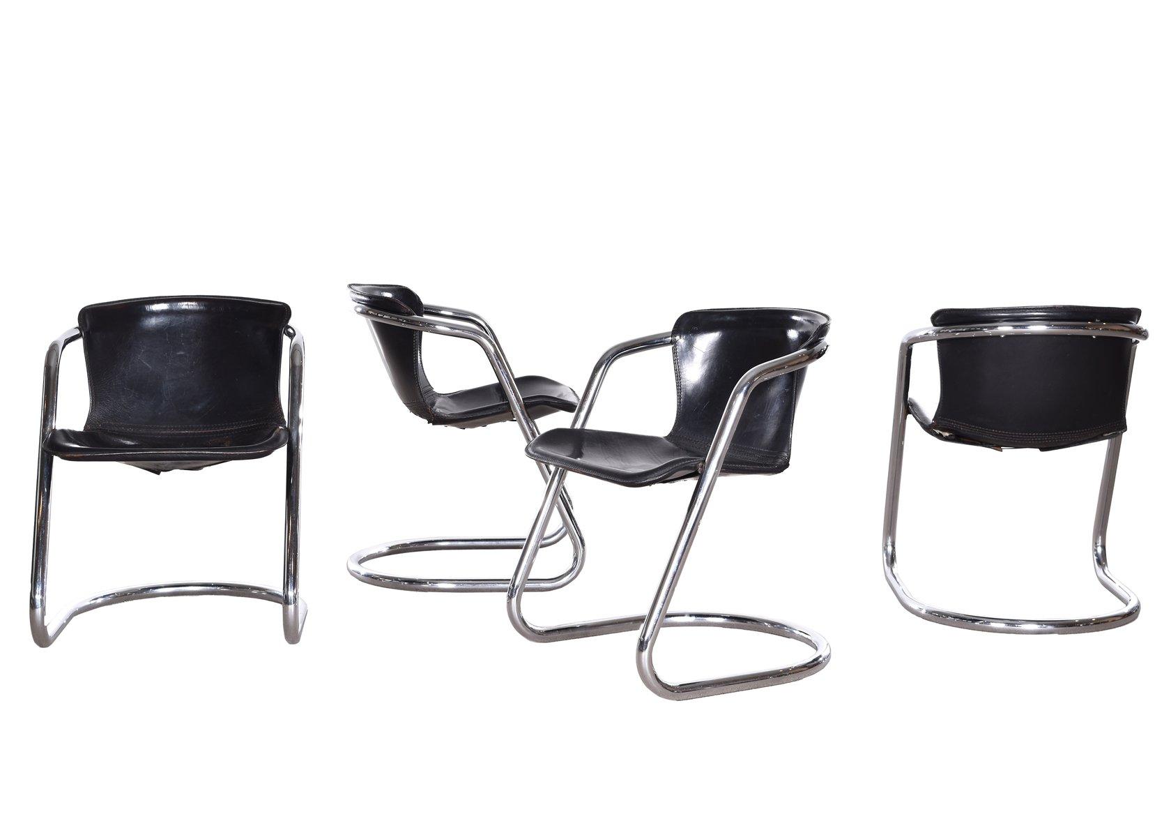 Chaises de salon par willy rizzo pour cidue 1970s italie for Chaise pour salon