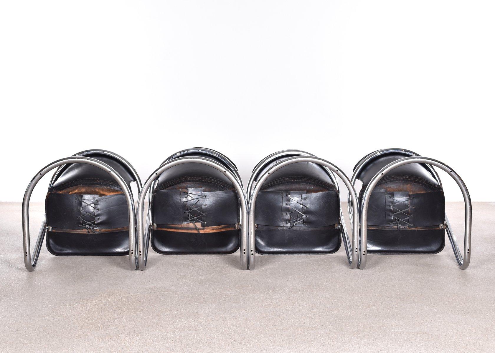 Italienische esszimmerst hle von willy rizzo f r cidue 1970er 4er set bei pamono kaufen - Italienische esszimmerstuhle ...