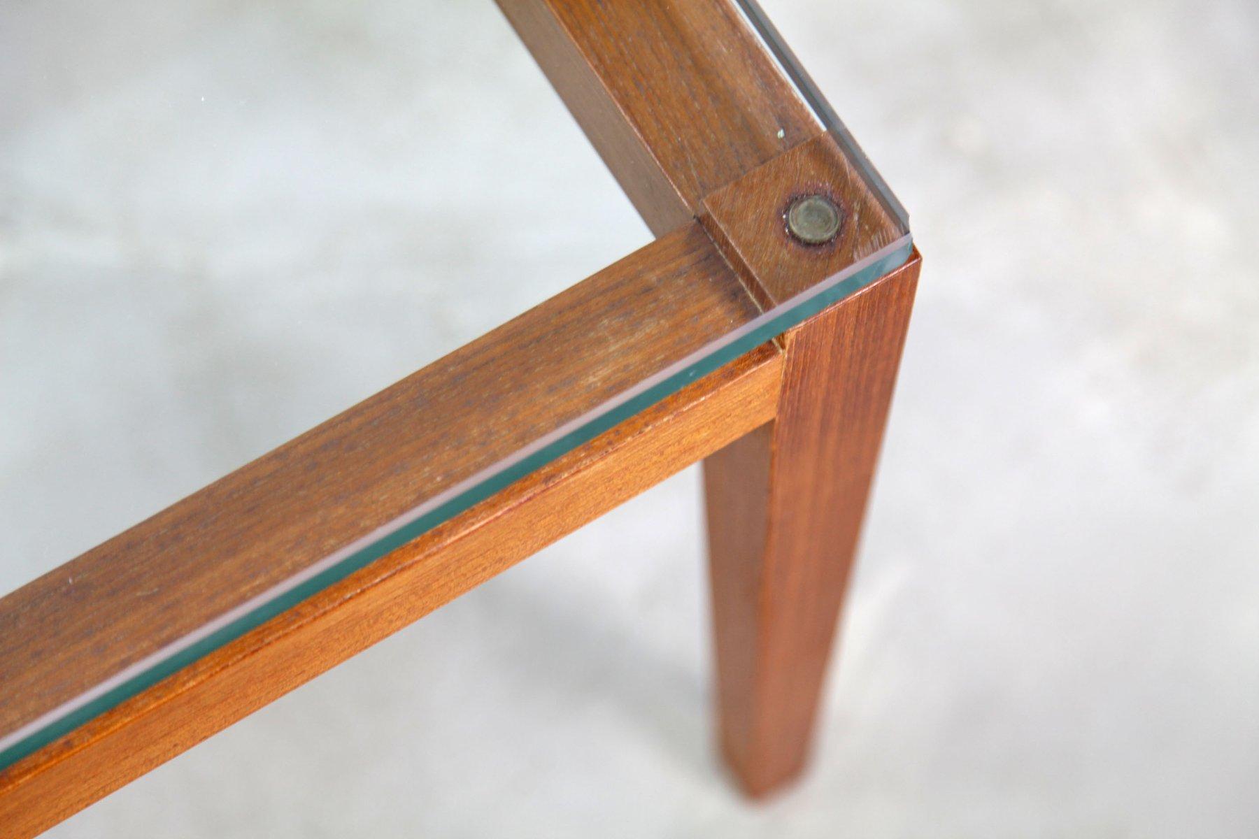 Teak And Glass Coffee Table Mid Century Teak And Glass Coffee Table 1960s For Sale At Pamono