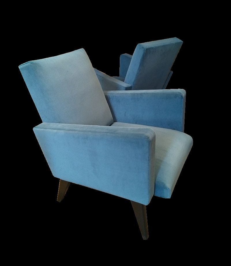 Vintage blue armchairs 1950s set of 2 for sale at pamono for 2 armchairs for sale