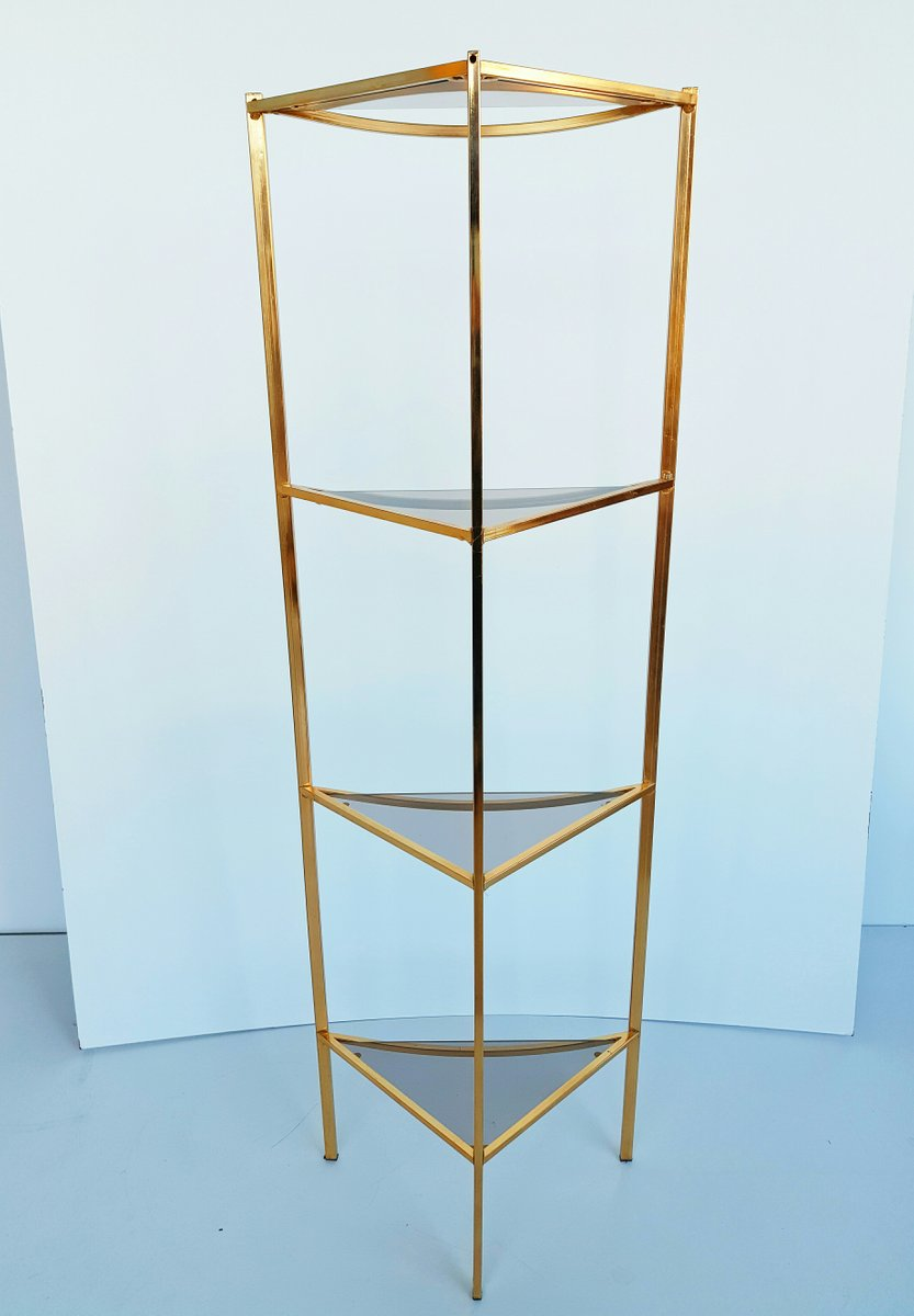 Brass And Glass Shelves. Fabulous Brass And Glass Shelves With Brass ...