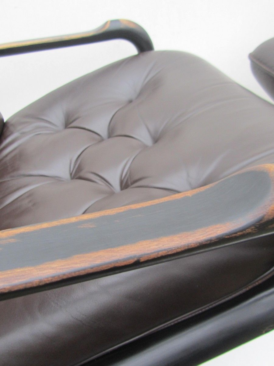 Vintage leather swivel chair - Price Per Set