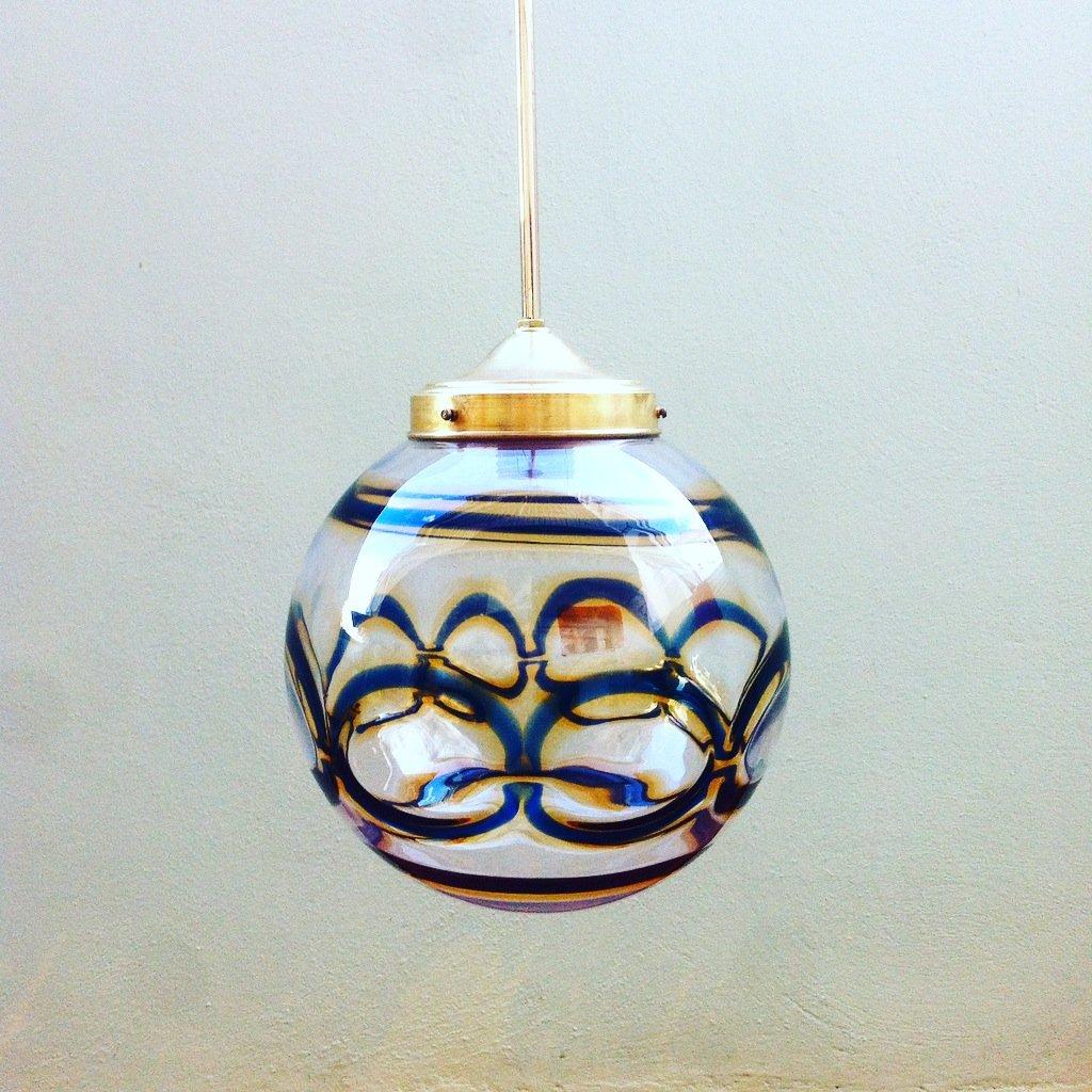 Mid-Century Murano Glass Globe Pendant Lamp for sale at Pamono