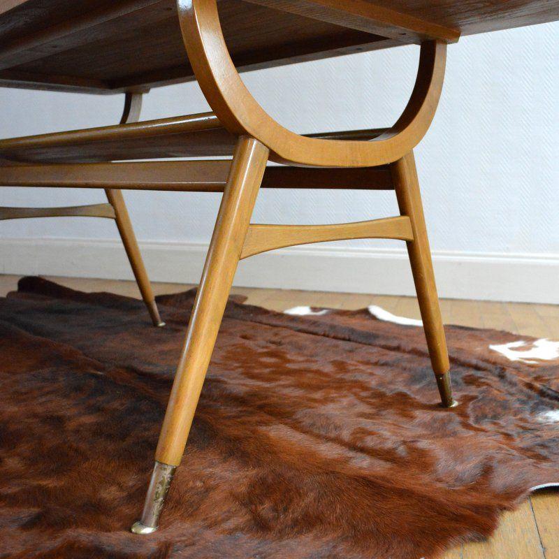mid century couchtisch aus hellem holz 1950er bei pamono. Black Bedroom Furniture Sets. Home Design Ideas