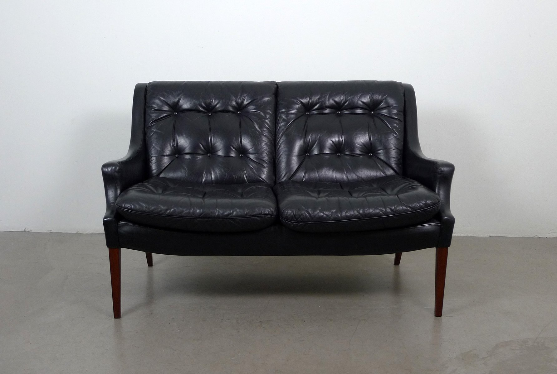 Black Leather Sofa From Walter Knoll 1960s For Sale At Pamono