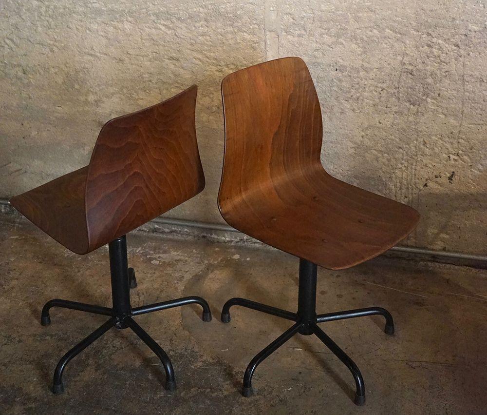 westdeutsche vintage st hle von pagholz 1960er 2er set. Black Bedroom Furniture Sets. Home Design Ideas