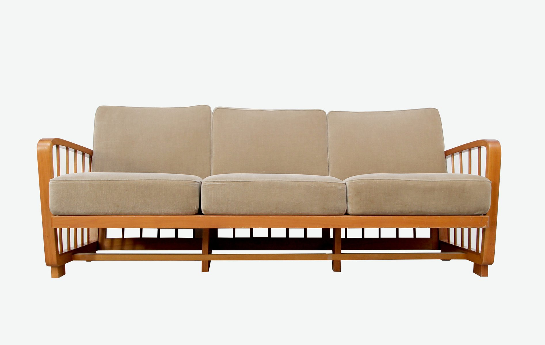 Vintage Sofa In Cherry 1950s For Sale At Pamono