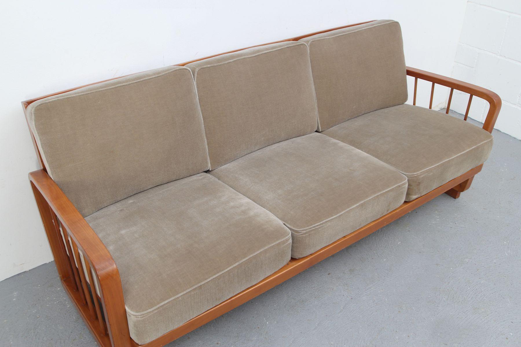 vintage kirschholz sofa 1950er bei pamono kaufen. Black Bedroom Furniture Sets. Home Design Ideas