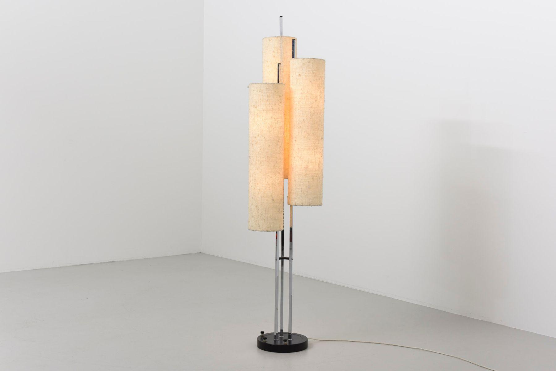 mid century stehlampe mit drei leuchten 1950er bei pamono kaufen. Black Bedroom Furniture Sets. Home Design Ideas