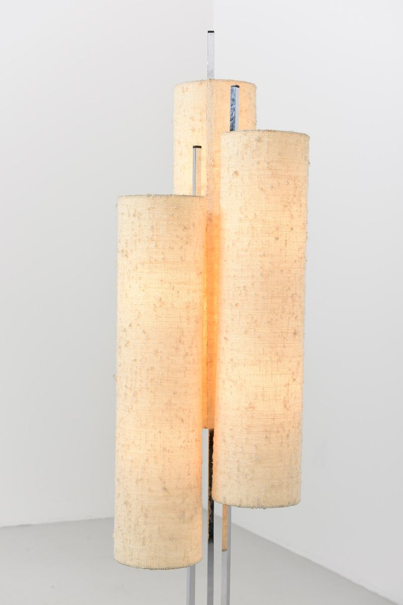 midcentury floor lamp with three lampshades 1950s