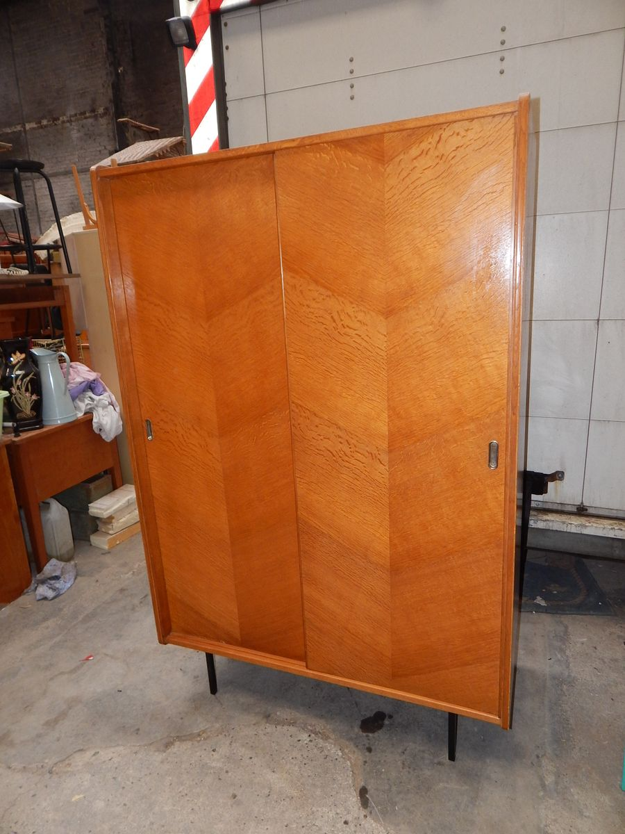 Vintage Wardrobe With Sliding Door For Sale At Pamono