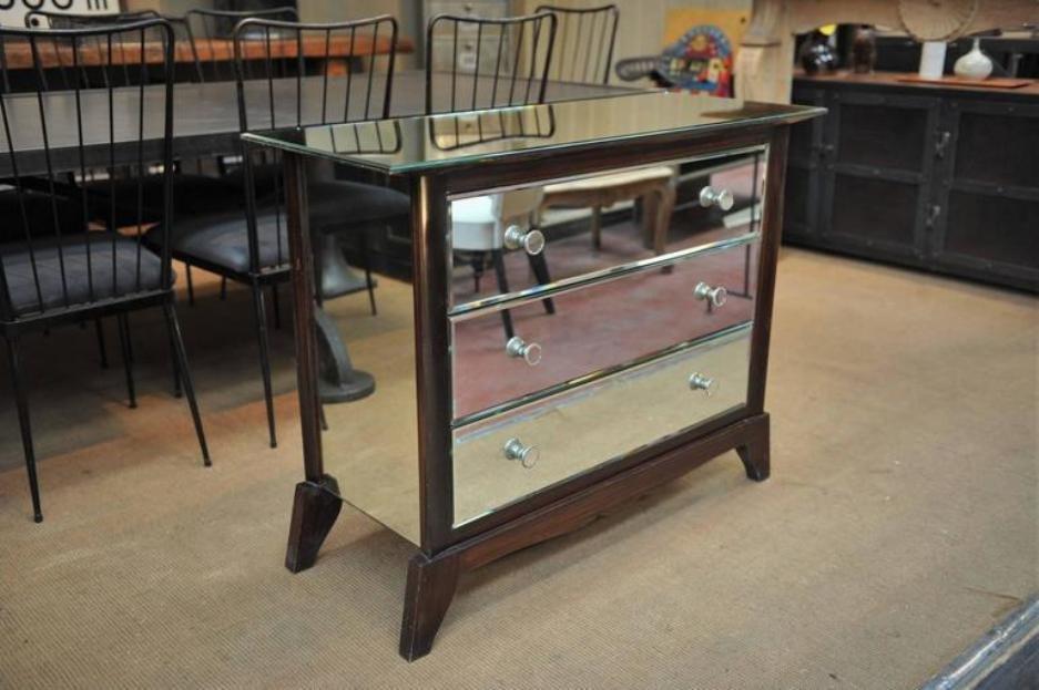 kommode aus spiegelglas 1940er bei pamono kaufen. Black Bedroom Furniture Sets. Home Design Ideas