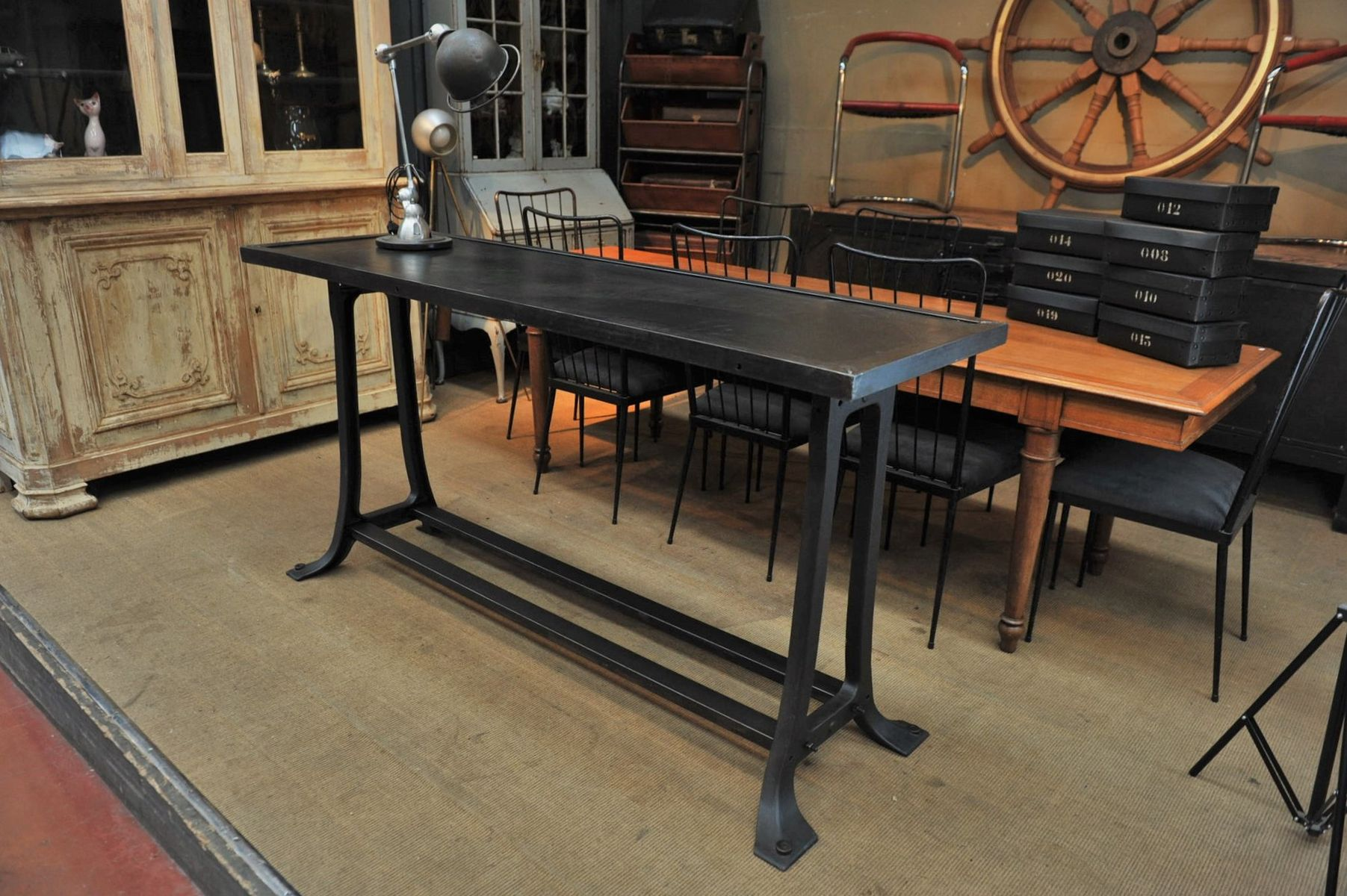 large industrial dining table carnegie