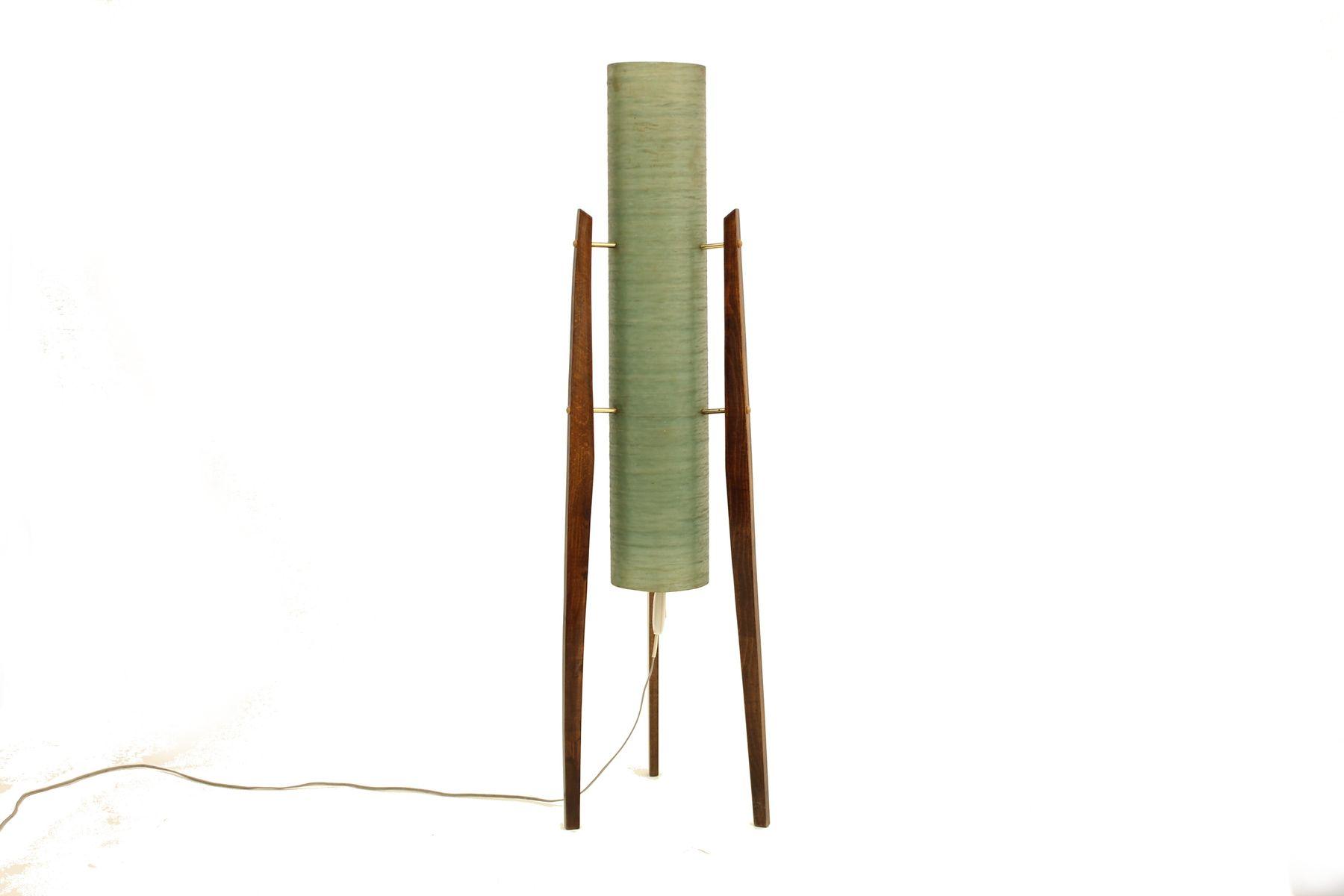 Lampe tripod rocket mid century en fibre de verre en vente sur pamono - Lampe fibre de verre ...