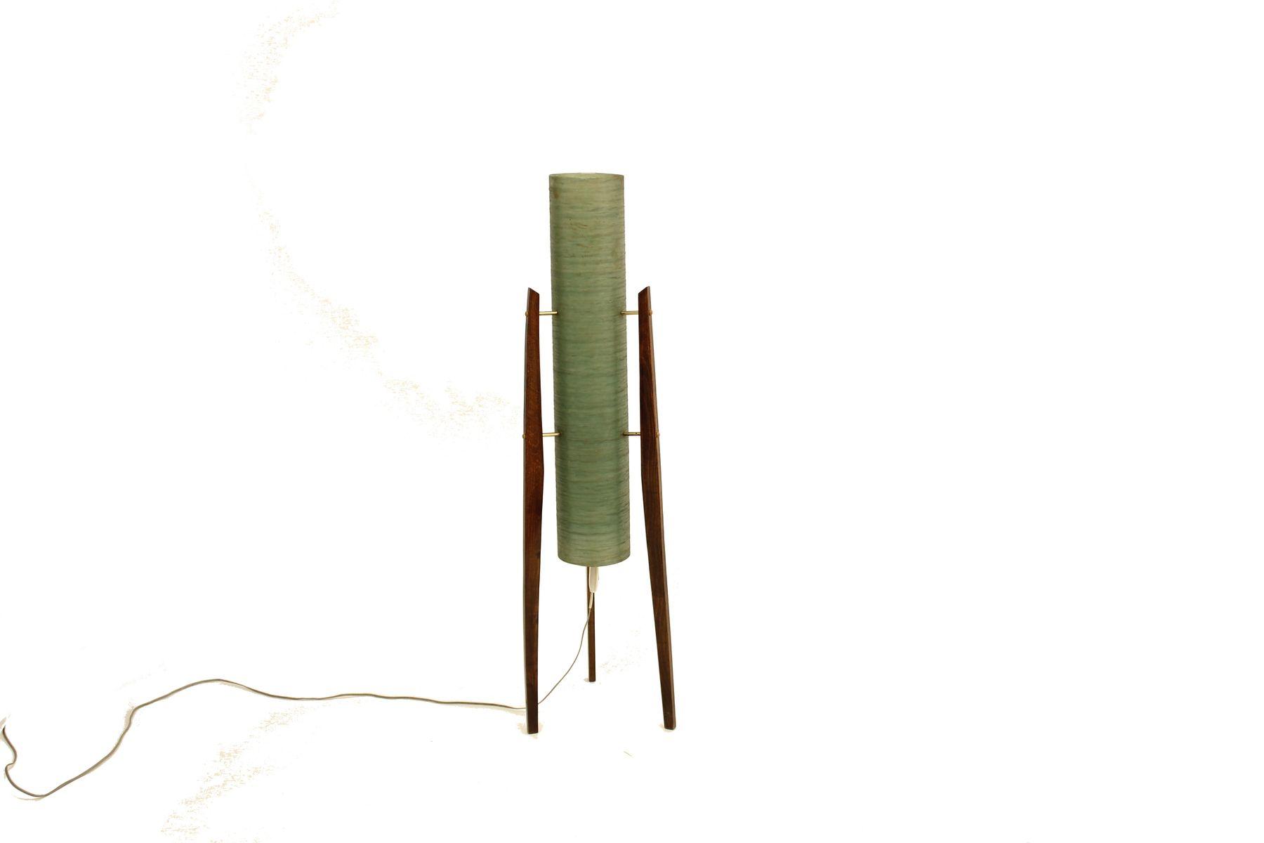 lampe tripod rocket mid century en fibre de verre en vente. Black Bedroom Furniture Sets. Home Design Ideas