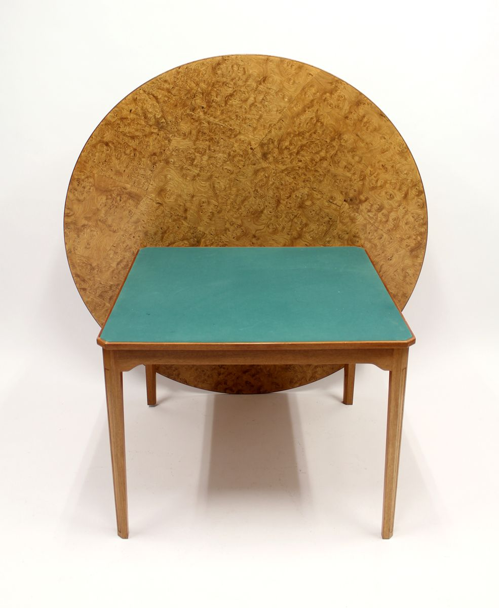 Swedish Root Veneer Dining And Games Table, 1970s